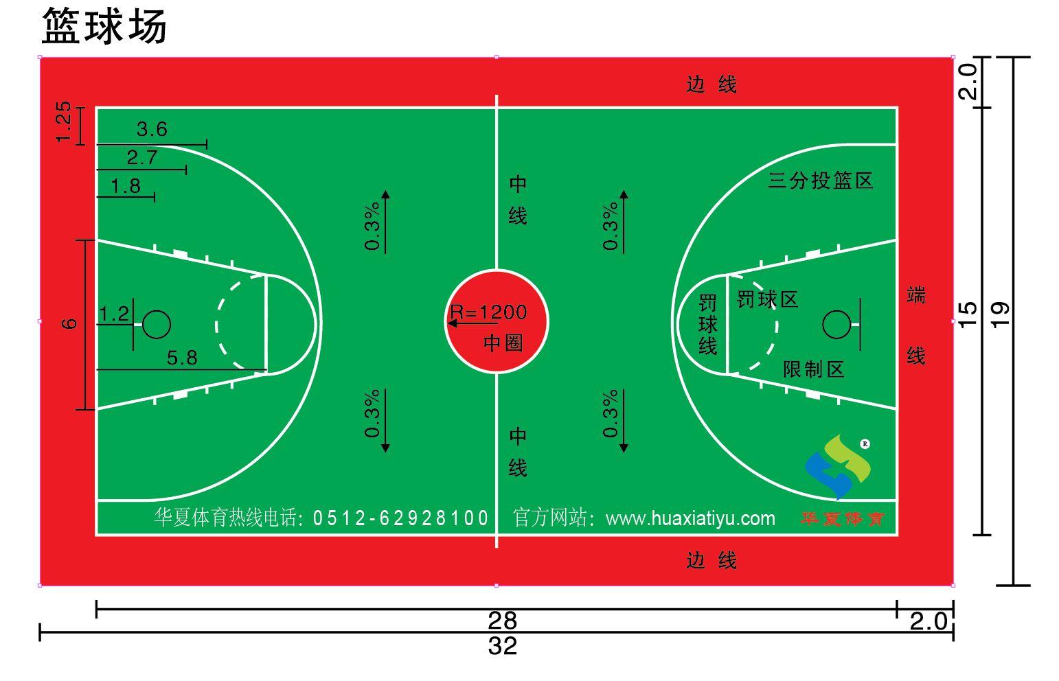 华夏体育-彩色塑胶球场-PVC-人造草坪-丙烯酸